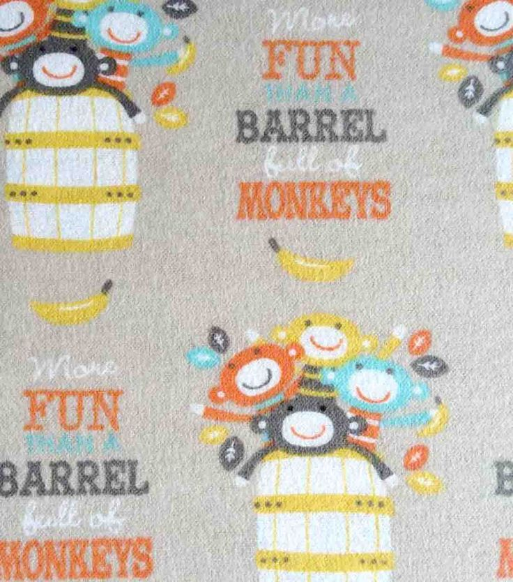 261 best baby projects with joann images on pinterest for Baby monkey fabric prints