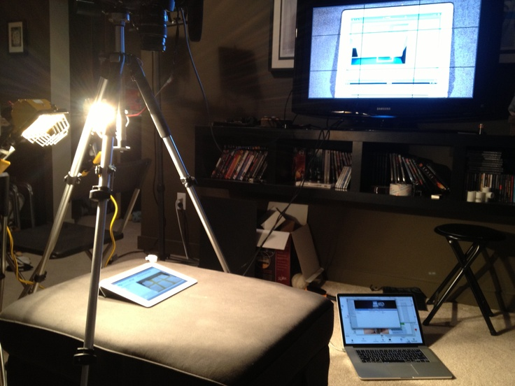 ASD Inc. Studio: In the middle of filming the functionality of a ASD Inc. application created for our client.