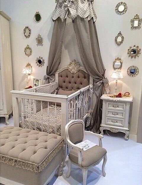 437 best the nursery images on pinterest girl nurseries for Baby cot decoration ideas
