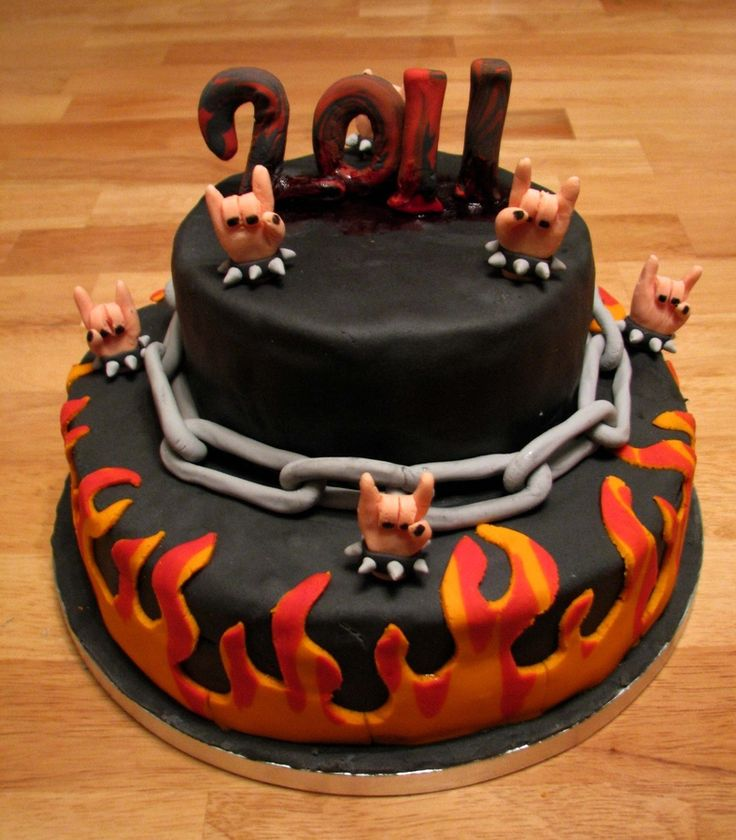 Heavy Metal New Year Cake Cakepins Com Mike Cakes