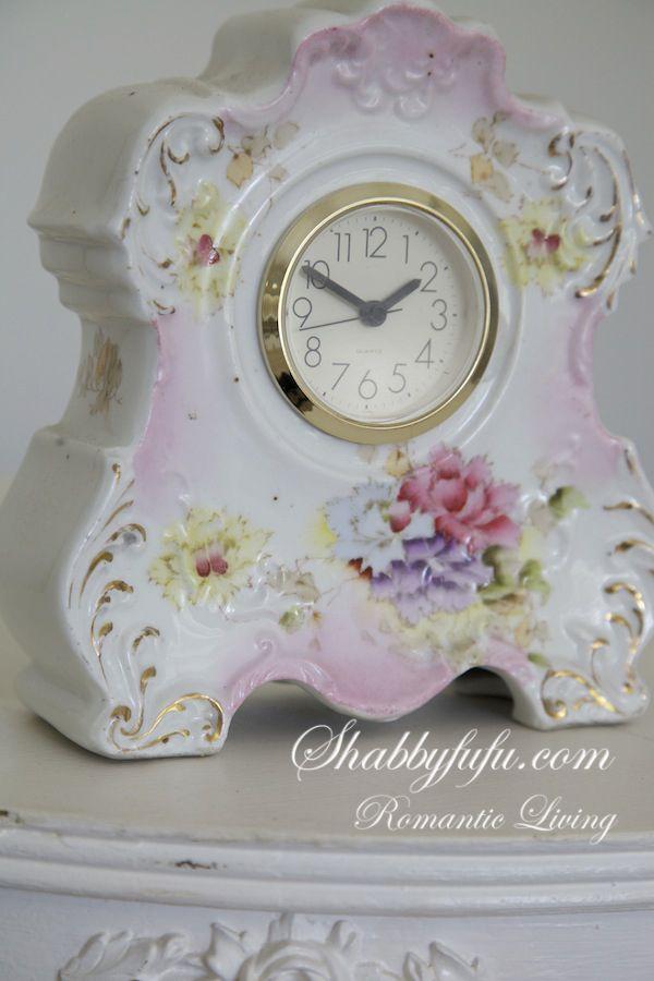 Gorgeous Vintage Porcelain Mantel Clock...OMG!