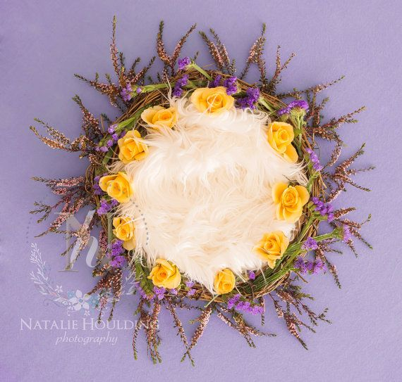 5 x Digital recién nacido cestas florales telones de fondo - la colección floral