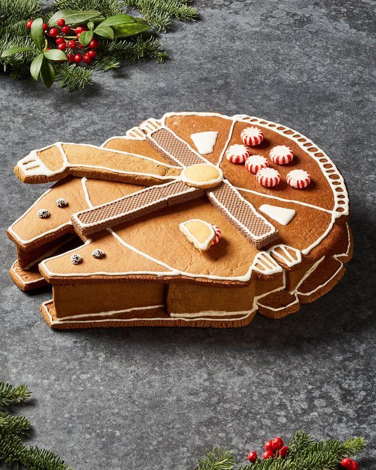 Christmas Baking Wars 2020 Millennium Falcon Prop Star Wars in 2020   Gingerbread, Star wars