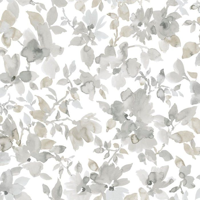 Cansler Floral Peel And Stick Wallpaper Roll Watercolor Floral Wallpaper Farmhouse Wallpaper Floral Watercolor