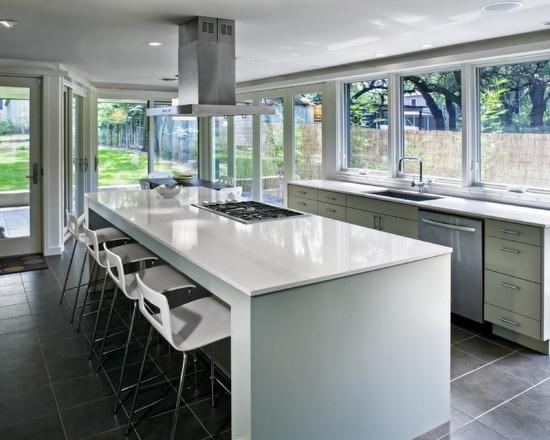 Love a kitchen with lots of windows  Kitchen  Modern