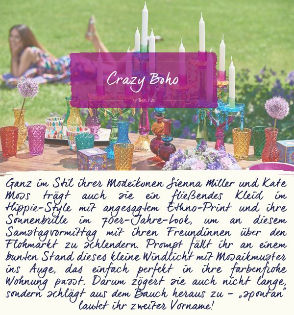 Wie genießen Sie Ihre Sommertage? Unsere Kollektion Crazy Boho verbreitet mit ihren farbenfrohen Accessoires in jedem Zuhause gute Laune...