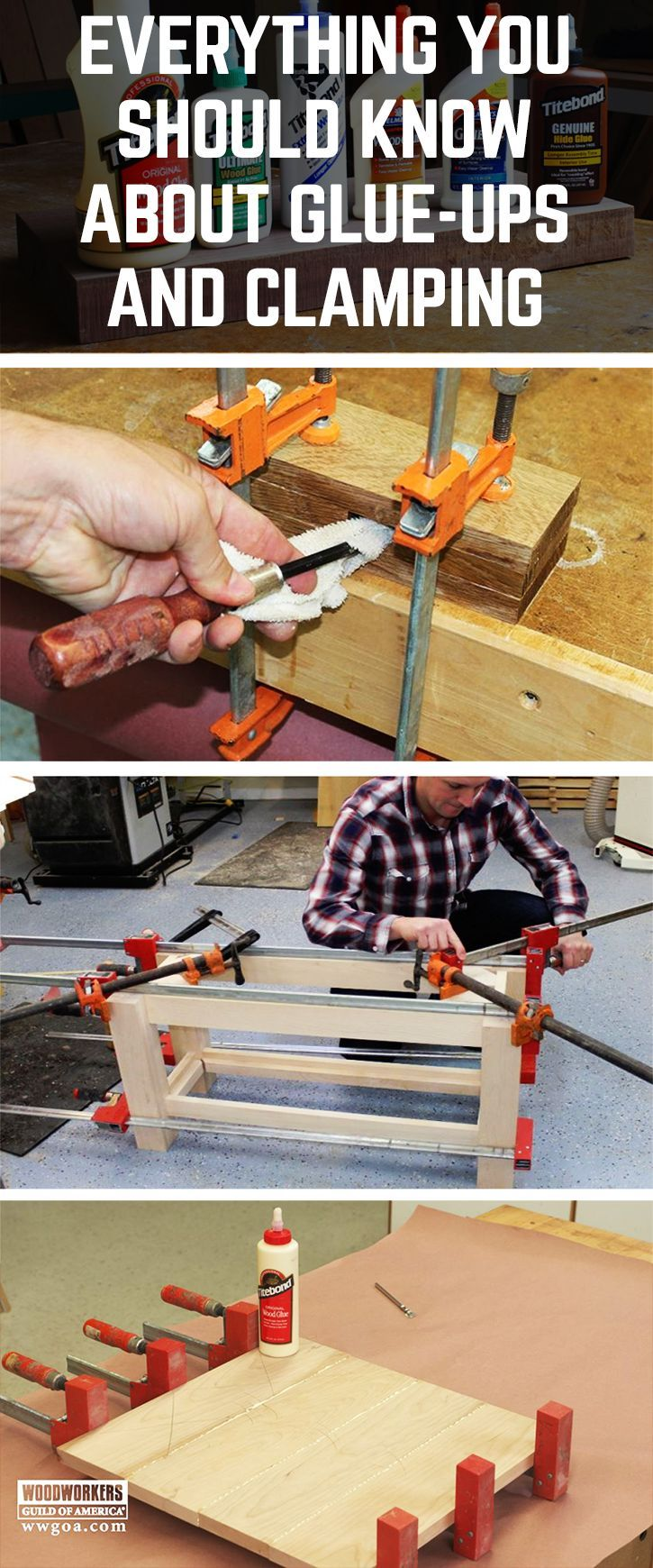Learn How to Glue Wood Together and Use Clamps