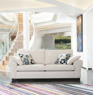 Soft cream fabric sofa from Queenstreet Carpets And furnishings.