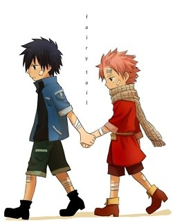 Oh this is adorable, little fray and natsu becoming friends, then their kids would likely become enemies bit I dont care