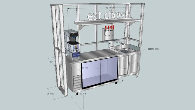 Large preview of 3D Model of Beverage Counter