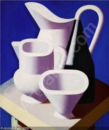 Cubism + Northern European still life + blue and white = love.  Vilhelm Lundstrøm.