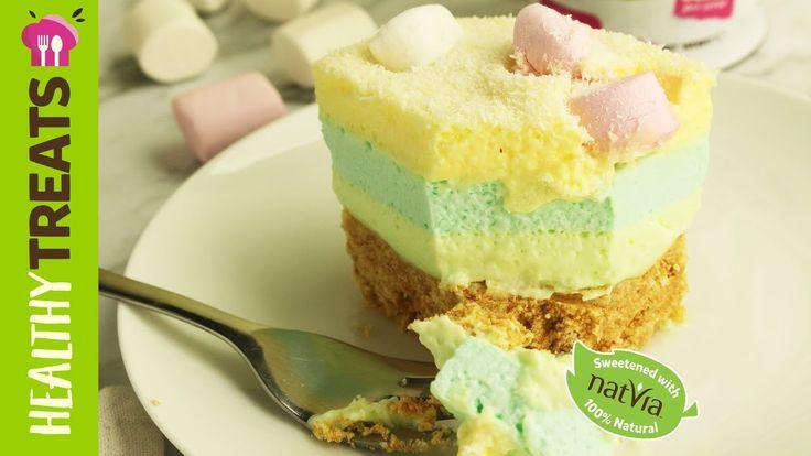 Rainbow Jelly #Slice, #SugarFree - #Natvia's #Healthy Treats