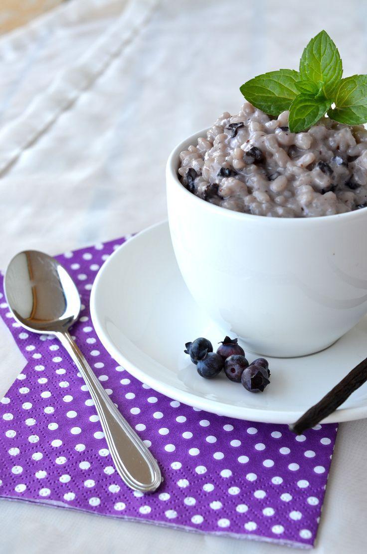 Ninas kleiner Food-Blog: Heidelbeer-Vanille-Milchreis-Mix im Glas