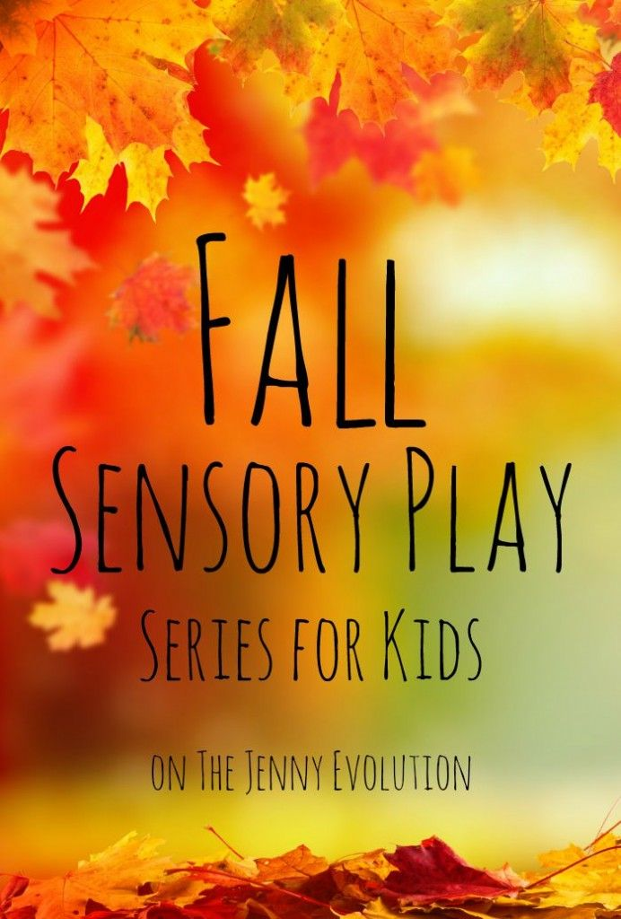 Fall Sensory Play Series on The Jenny Evolution. Autumn sensory activities, crafts and ideas for your kids!