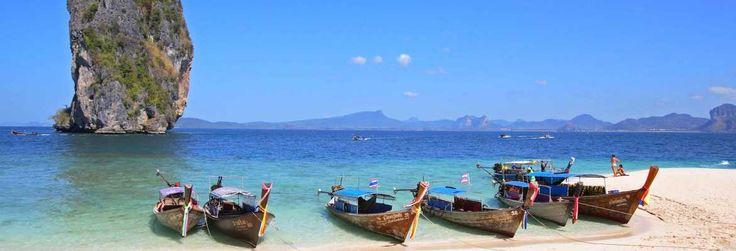 Enjoy white sand beach of #Krabi #Thailand #KrabiTigerCaves with delicious cuisine #tofu #fishballs.