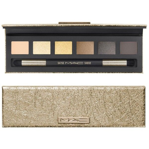 MAC Eye Compact, Snow Ball Collection ($88 value) ($30) ❤ liked on Polyvore featuring beauty products, makeup, eye makeup, eyeshadow, gold, mac cosmetics eyeshadow and mac cosmetics