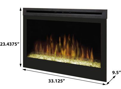 Dimplex 33 inch plug in contemporary electric fireplace - Contemporary electric fireplace insert accessories ...