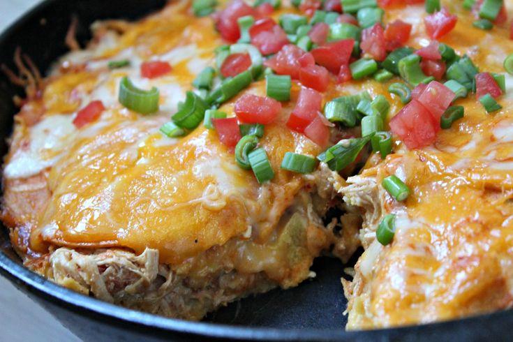 Creamy Chicken Enchilada Stack