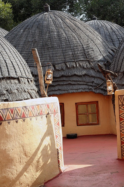 Traditional huts, Lesedi Cultural Village, South Africa
