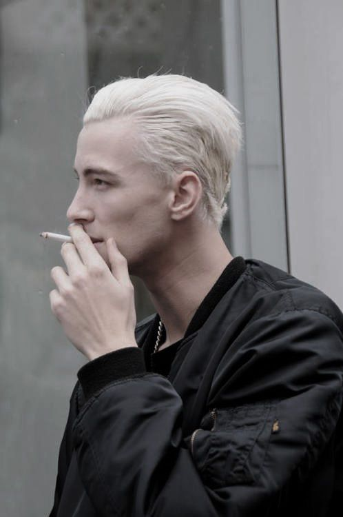 Bleached Hair for Males: Achieve the Platinum Blonde Appear | Men Hairstyles / @albertwijaya