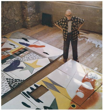 Le Corbusier painting purism. #lecorbusier #architecture #design #art #purism #painting #geniusatwork http://icarolavia.blogspot.com.es/2014/05/design-le-corbusier-idealista-criatura.html
