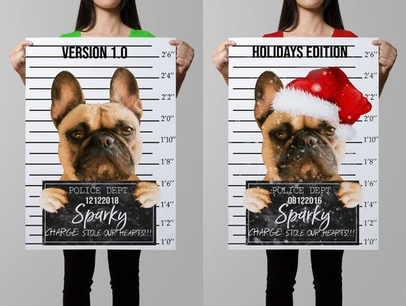 Custom Dog Portrait, Personalized Pet Portrait, Printable, Customized Funny Gift… – Products