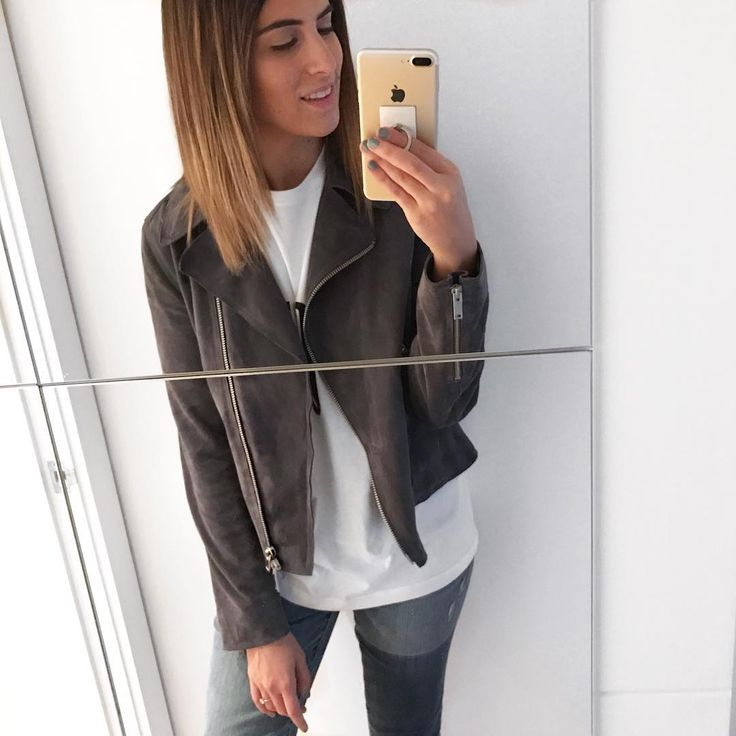 Lily Pebbles wears our Bryony suede Jacket.