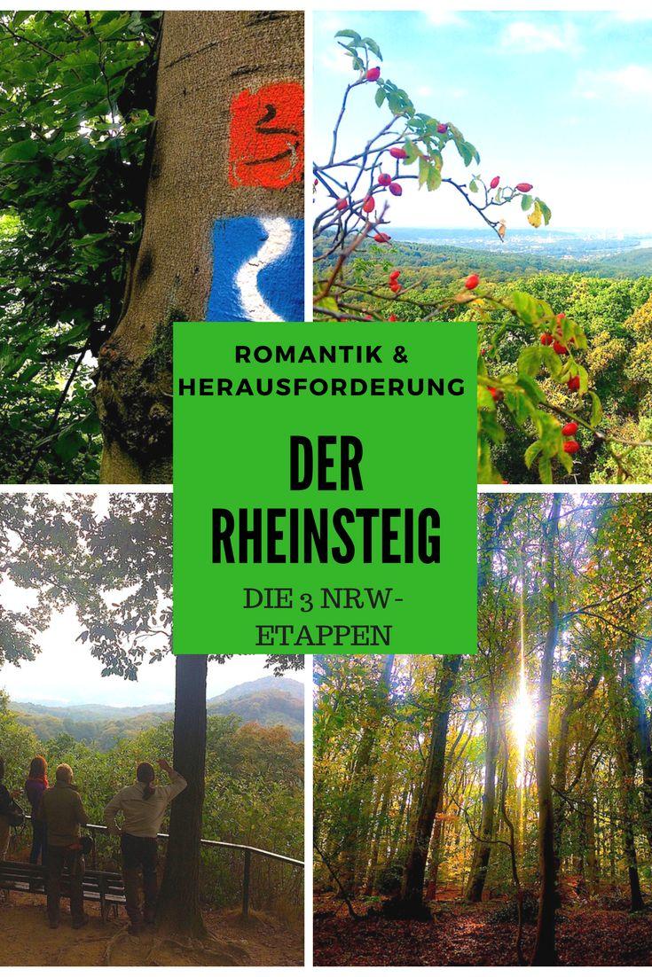 WÄLDER, WEINBERGE UND GRANDIOSE AUSSICHTEN -  Der Rheinsteig gilt zu Recht als einer der schönsten Fernwanderwege Deutschlands. Insbesondere die 3 NRW-Etappen lassen Wanderer in Rheinromantik schwelgen. Die besten Touren- und Einkehrtipps im Blog.