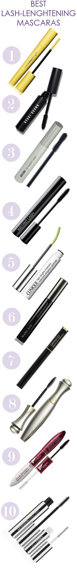 10 of the best lengthening mascaras