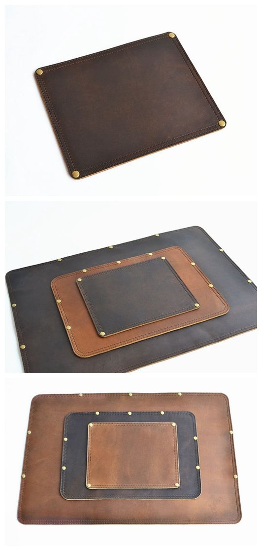 Mouse Pad Leather Mouse Pad Leather Desk Pad Handmade Leather Mouse Pad Handmade Desk Pad