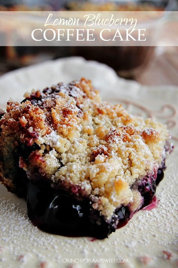 Lemon Blueberry Coffee Cake #cake @crunchycreamysw