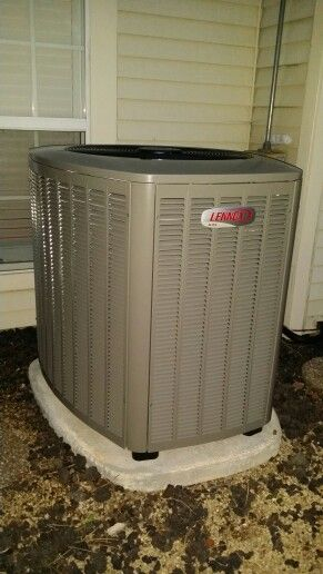 lennox condenser. 20 seer lennox variable capacity condenser installed by compass heating and air in a schaumburg,