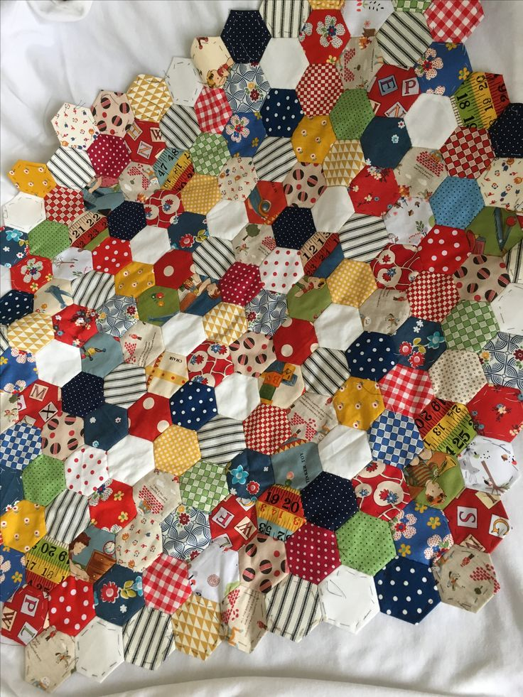 Hexagon quilt - work in progress