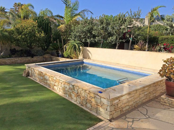 All Pools Photo Gallery Stacked Stone Around Endless Pool Pool - Above ground endless pool