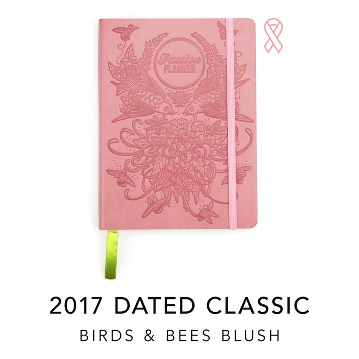 """CLASSIC:8.5""""x11""""  *For every Birds & Bees Blush Passion Planner purchased, we'll be donating  planners to organizations that support breast cancer awareness, the  survivors, family members, and those affected by breast cancer.  We will be donating to organizations including the National Breast Cancer  Foundation, Rady Foundation,Livestrong,and more!  As this is a Limited Edition planner, once it sells out, it will not be  remade.  Ships 2 to 3 business days after order is placed…"""