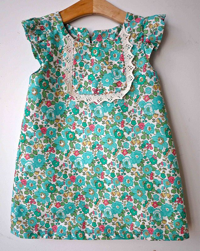 o+s playdate dress all in liberty with lace yoke rather then piping sans buttons or ruffles - with the right fabric, may not need zipper