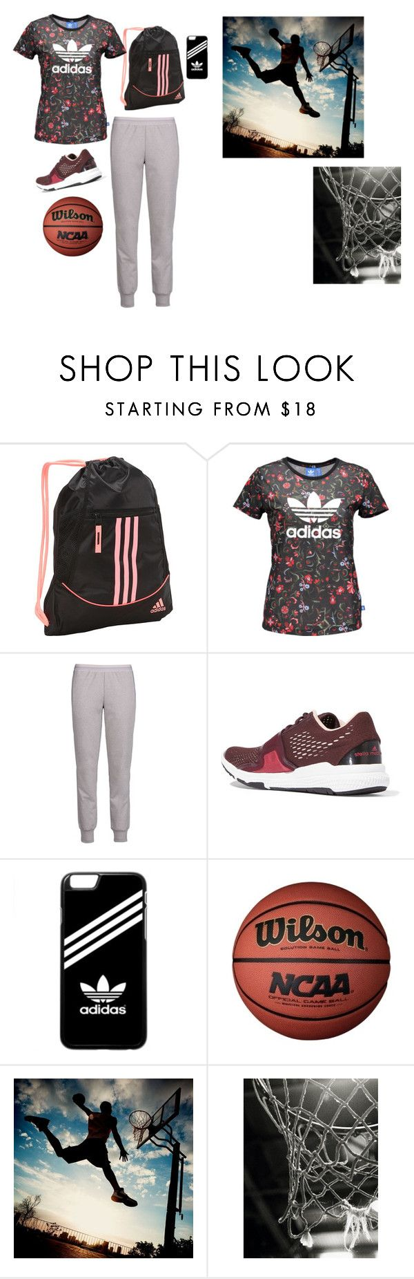 """Basketball"" by barbi2003 on Polyvore featuring adidas and PBteen"