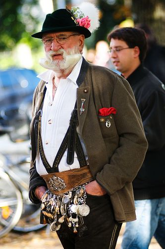 Dressed Up in Traditional Clothing-Germany - like his mustache.... Repinned by www.mygrowingtraditions.com