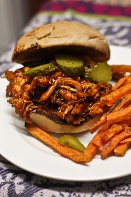 Jerk Chicken Sandwiches with Sweet Potato Fries. These sandwiches will light up your taste buds with a fabulously fiery spice rub and barbeque sauce that has some serious kick.