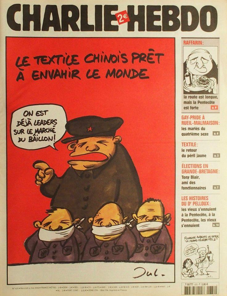 Charlie Hebdo - # 672 - 4 Mai 2005 - Couverture : Jul
