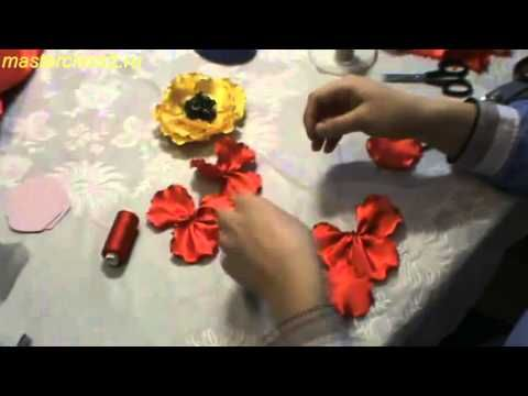 Цветы из ткани. Фантазийный Мак из ткани. Мастер класс ✄ https://www.youtube.com/watch?v=HBv3CC8qJOE