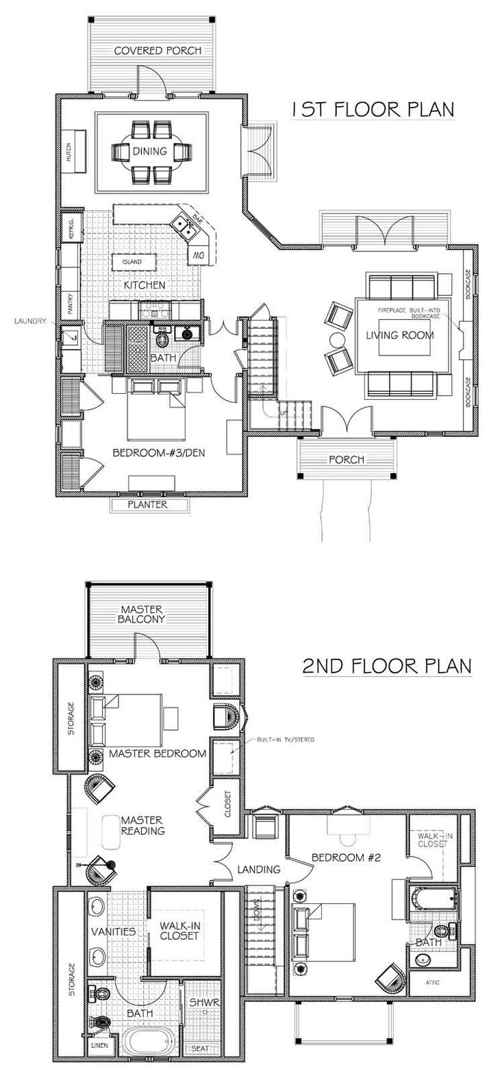 """""""english cottage plans"""" - Nice little two-story blueprint."""