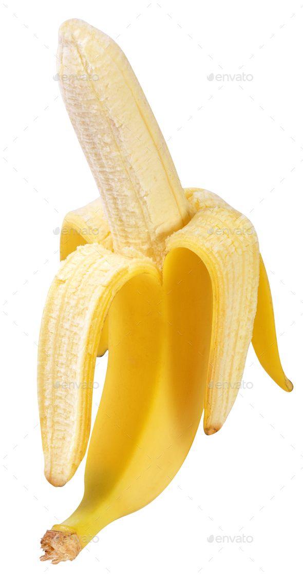 Half Peeled Banana Isolated By Photoshkolnik Half Peeled -4449