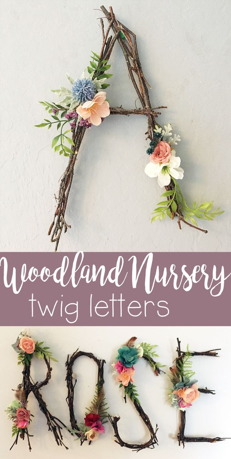 I love this idea, branches or floral letters …