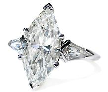 Marquise diamond ring-Love this vintage look
