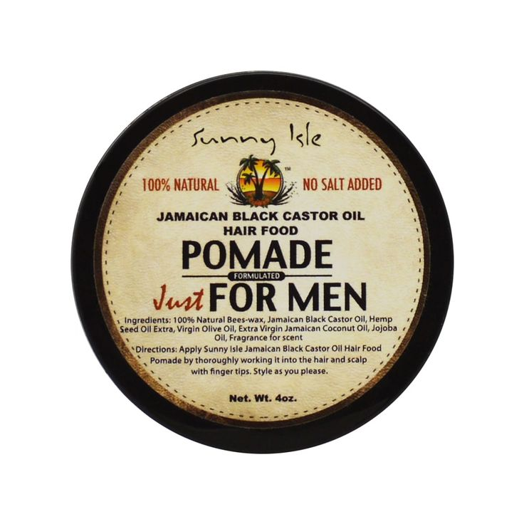 Sunny Isle Jamaican Castor Oil 4-ounce Hair Food Pomade Just for Men