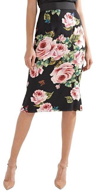 ffdd4de8e2 Dolce&Gabbana Black Multi Floral-print. I'm a sucker for floral on black!!  💖💖💖. Dolce&Gabbana Skirt.