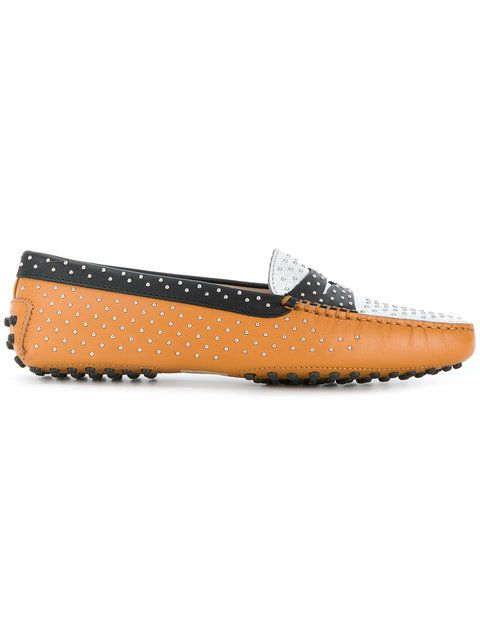 Shop Tod's Gommino studded loafers.