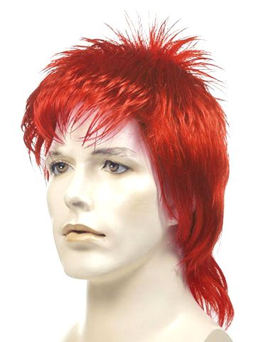 City Costume Wigs - David Bowie as Ziggy Stardust Red Mullet Wig, $25.99 (http://www.citycostumewigs.com/david-bowie-as-ziggy-stardust-red-mullet-wig/)
