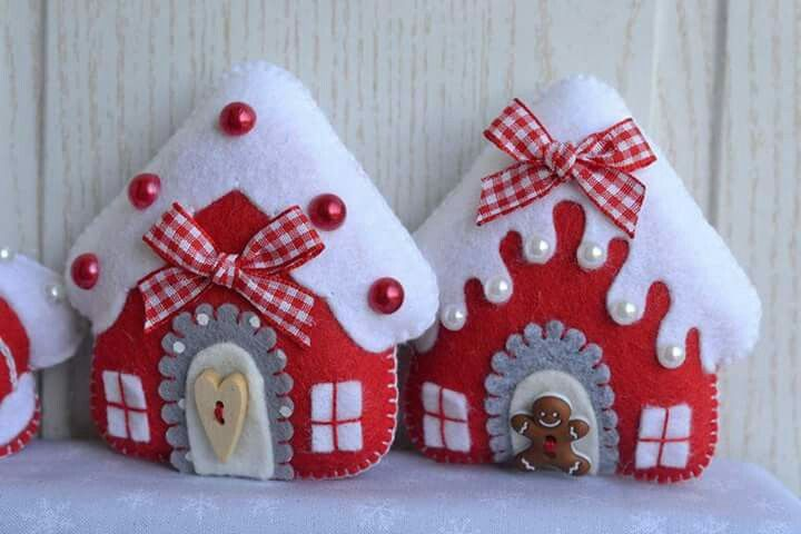 Casa feltro Natal